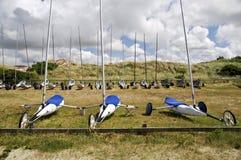 Sand-Yachten Stockfotos