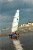 Sand yachting stockbilder