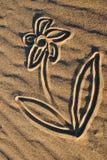 Sand-Zeichnungen Lizenzfreies Stockfoto