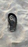 Sandał na plaży Zdjęcia Stock