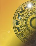 Sandakada pahana卡片设计 免版税库存照片