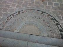 Sandakada pahana - księżyc kamień zdjęcie stock