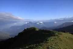 Sandakphu Trek. Trekking in majestic Himalaya mountains stock images