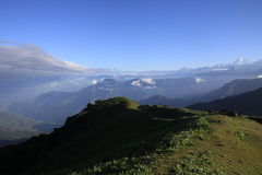 Sandakphu-Wanderung stockbilder