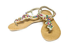 Sandal with gems Stock Photos