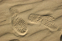Sandal imprint Royalty Free Stock Image