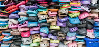 Sandal at the market. In Thailand Royalty Free Stock Images