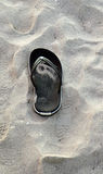 Sandal på stranden Arkivfoton