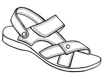 Sandal vector sketch Royalty Free Stock Images