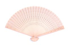 Sandal Wood chinese fan Royalty Free Stock Photos