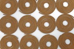 Sandal wood incense. Sandal-wood incense coils of rich aromatic smell refreshing Stock Photography