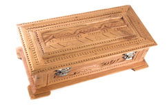 Sandal wood jewelry box. An intricately carved jewelry box made of sandal wood (an extremely fragrant wood indigenous to India) made for carving Royalty Free Stock Photo