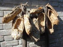 Sandaler av den forntida ryssen Royaltyfri Fotografi