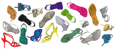 Sandaler för hög häl Royaltyfria Foton