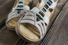 Sandaler för modekvinna` s Royaltyfri Foto