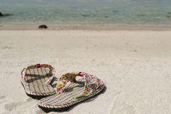 Sandales à la plage Image stock