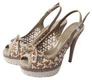 Sandales beiges Photo libre de droits