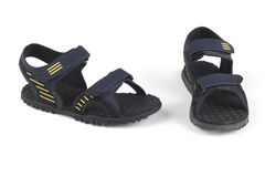Sandales bleu-foncé de couleur Photographie stock libre de droits
