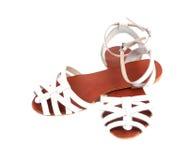Sandales de l'été des femmes. Images libres de droits