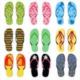Sandales de plage réglées illustration stock