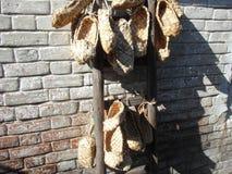 Sandales du Russe antique Photos libres de droits