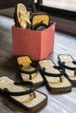Sandales en bois Images libres de droits