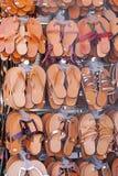 Sandales en cuir images libres de droits