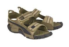 Sandales sur un blanc Photo libre de droits