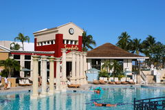 Sandales toutes Bahamien grand de station de vacances incluse Photo libre de droits