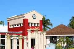 Sandales toutes Bahamien grand de station de vacances incluse Images libres de droits