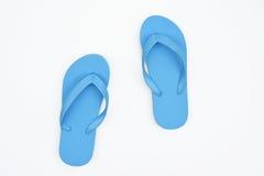 Sandali blu Fotografia Stock