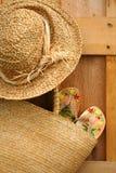 Sandali in borsa del sole Fotografia Stock Libera da Diritti