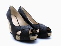 Sandali del cuoio di signora Immagini Stock