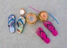 Sandali della spiaggia fotografia stock