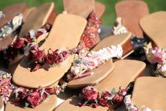 Sandali delle donne   Fotografia Stock