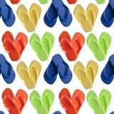Sandali di caduta di vibrazione nelle figure del cuore Fotografie Stock Libere da Diritti