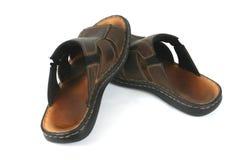Sandali di cuoio Immagini Stock