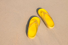 Sandali gialli Immagini Stock Libere da Diritti