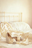 Sandali nuziali Fotografia Stock
