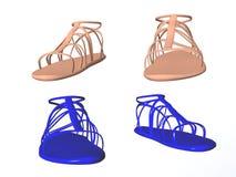 Sandalias stock de ilustración