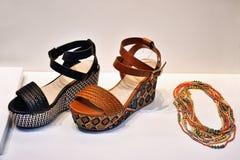 Sandalias con estilo Foto de archivo libre de regalías