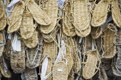 Sandalias de lámina japonesas tradicionales fotos de archivo libres de regalías