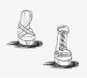Sandalias de la moda. Fotos de archivo libres de regalías