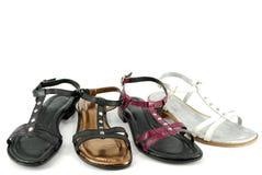 Sandalias de la mujer Fotografía de archivo