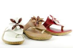 Sandalias de la mujer Foto de archivo libre de regalías
