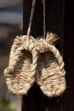 Sandalias de la paja Imagen de archivo