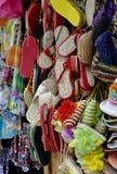Sandalias de la paja Fotografía de archivo libre de regalías