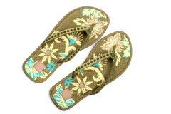 Sandalias de la playa imagen de archivo