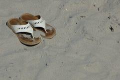 Sandalias de la playa Imágenes de archivo libres de regalías