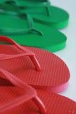 Sandalias de la playa Fotos de archivo libres de regalías